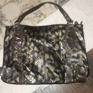 BRAND NEW large animal print faux leather bag